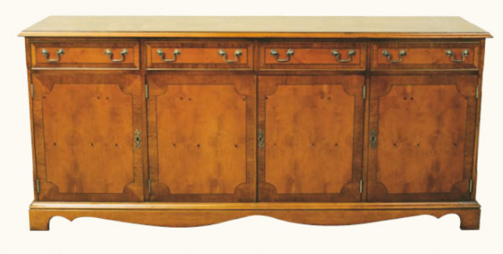 Sideboard mit vier Schranktüren und vier Schubladen Mahagoni