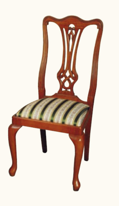 """Georgian Highback"" Stuhl in Mahagoni - ebenfalls in Eibe erhältlich"