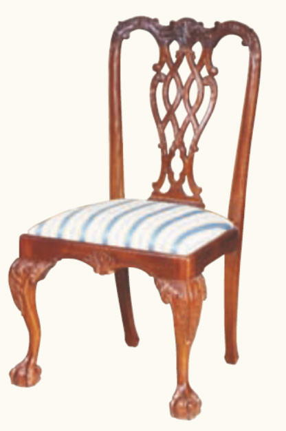 """Chippendale"" Stuhl in Mahagoni - ebenfalls in Mahagoni erhältlich"