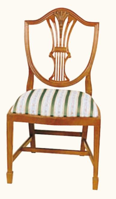 """Hepplewhite Shieldback"" Stuhl in Eibe - ebenfalls in Mahagoni erhältlich"