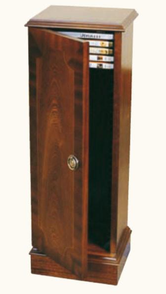DVD Ständer mit Tür in Mahagoni