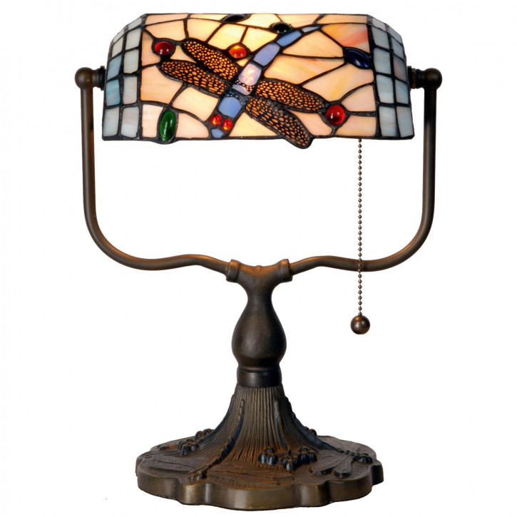 Bankerlampe im Tiffany Stil 27x35cm