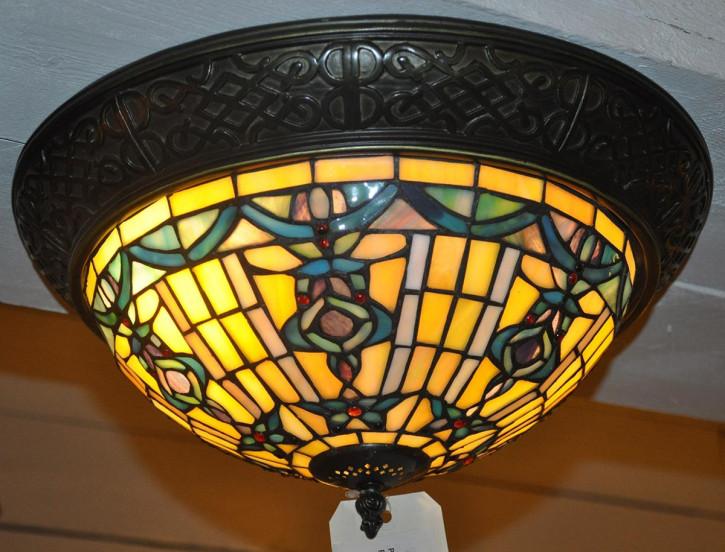 """Tiffany Deckenlampe """"Classic Blue"""""""