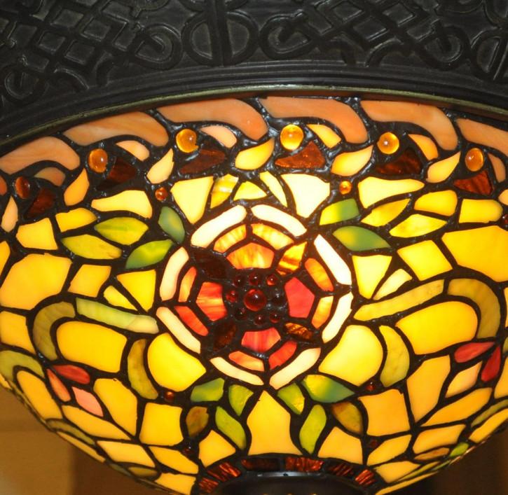 """Deckenlampe im Tiffany-Stil """"Blumengarten"""""""