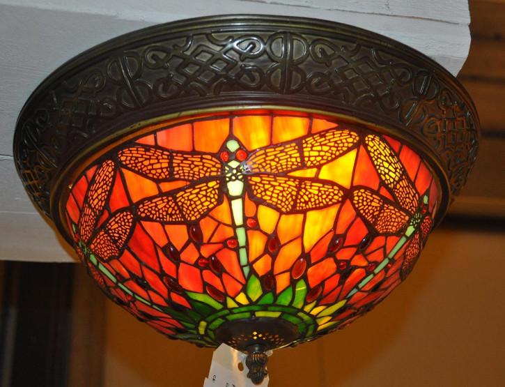 """Deckenlampe im Tiffany-Stil """"Libellen Nest"""""""