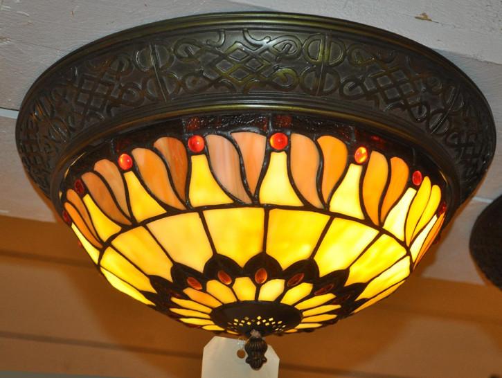 """Deckenlampe im Tiffany-Stil """"Leaves&Berries"""""""