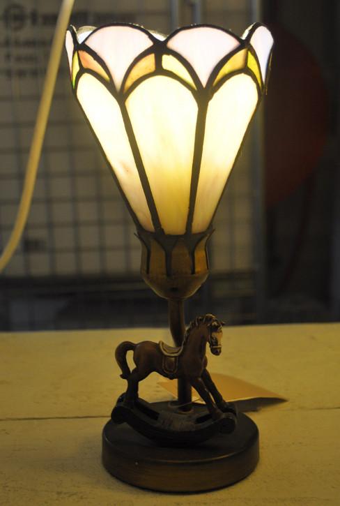 Tischlampe Tiffany-Stil Schaukelpferd  ca. Ø 12,5 cm
