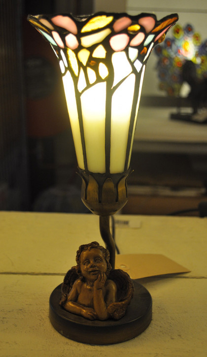 Tischlampe Tiffany-Stil Engel ca. Ø 12,5 cm