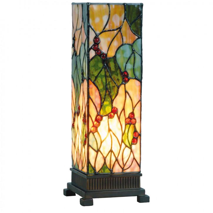 Säulenlampe im Tiffany-Stil 35x12.5cm mit Naturmuster