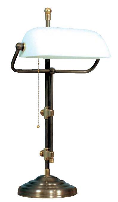 Bankerslamp Weiß 50cm