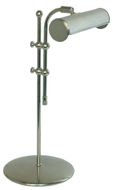 Tischleuchte, Nickel matt, 59cm