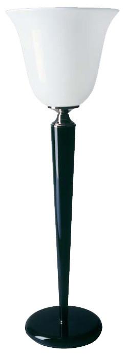 Art-Deco Stehleuchte, Nickel/Schwarz , 80 cm