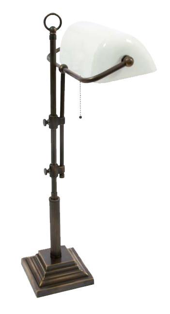 Bankerslampe Weiß 61-72cm