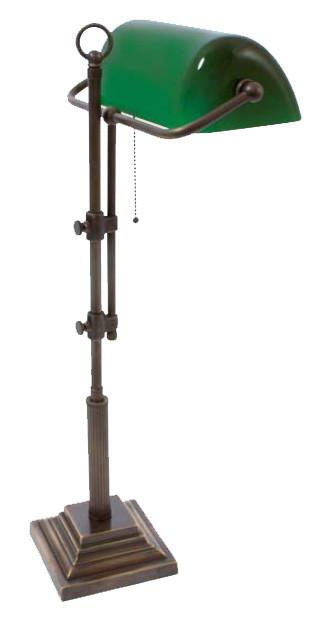 Bankerslampe Grün 61-72cm