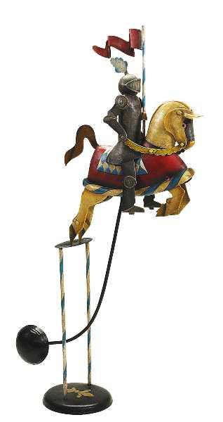 Balancing Toy außergewöhnliches Spielzeug aus Edelstahl Balancierspiel - Knight