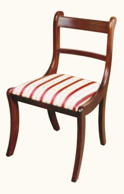 "Stuhl ohne Armlehne ""Sabre Leg"" Mahagoni"