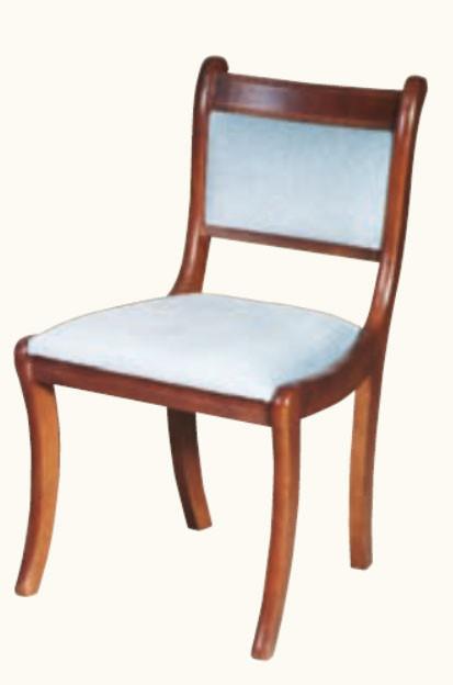 Stuhl mit gepolsterter Rückenlehne und Armlehne Mahagoni