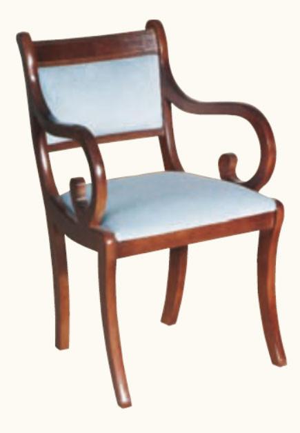"""""""Stuhl mit gepolsterter Rückenlehne"""" in Mahagoni - ebenfalls in Eibe erhältlich"""