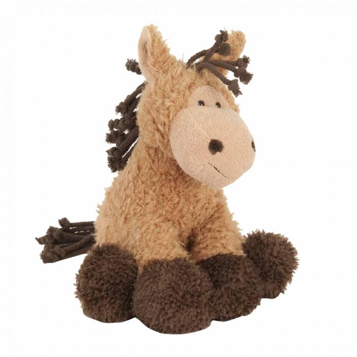 Lustiges Stofftier-Pferd, in braun