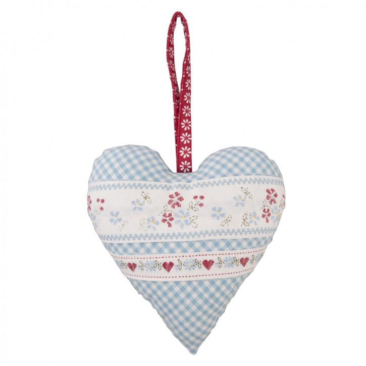 Decoratie hart blauw