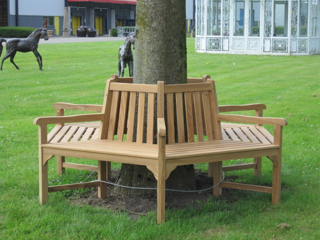 Teak Bank - Tree bench