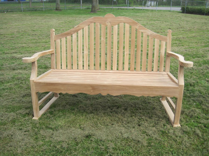 Teak Bank - Bench high back Bedford klein