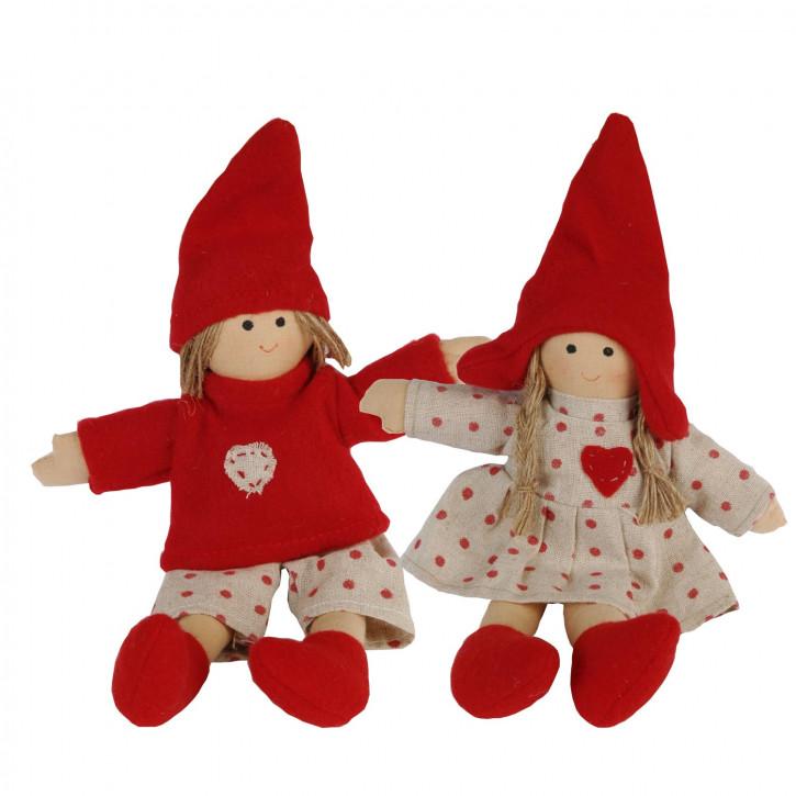 Puppen-Pärchen zum Aufhängen, im Set
