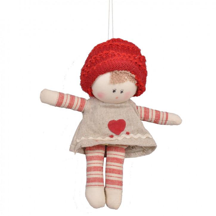 Puppe mit roter Mütze 15cm