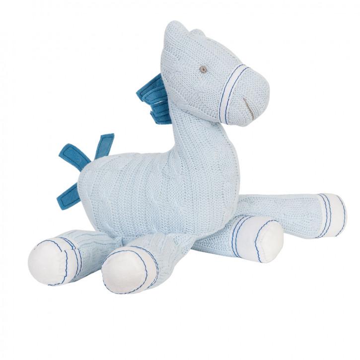 Stoff-Pferd in babyblau