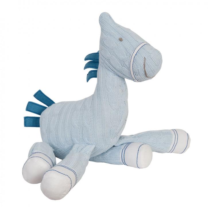 Großes Stoff-Pferd in babyblau