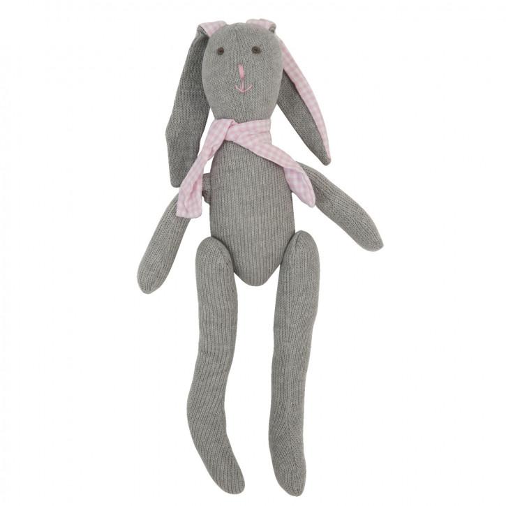 Großes Kaninchen-Stofftier, in grau
