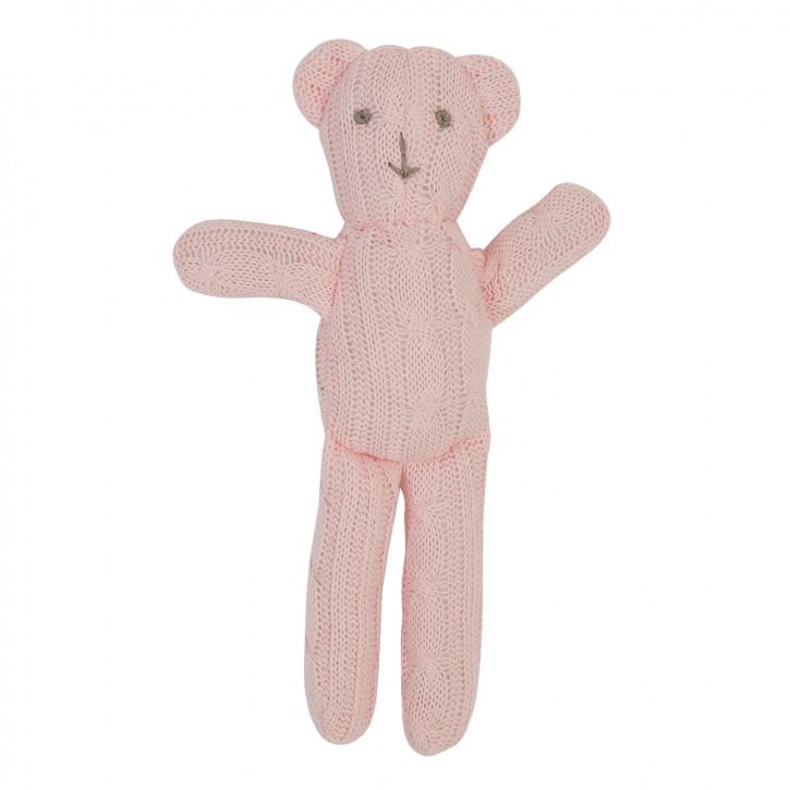 Pinker Strick Deko Teddybär 25cm