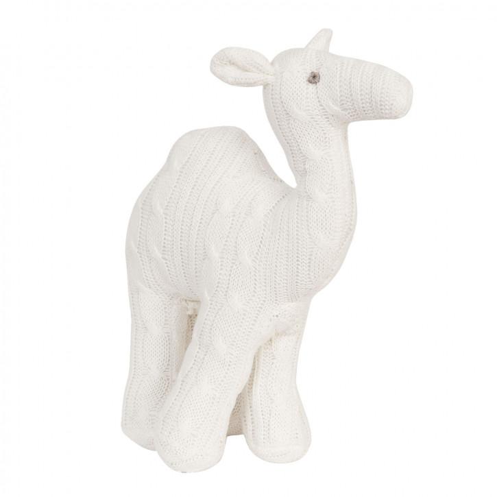 Schneeweißes Kamel als Stofftier