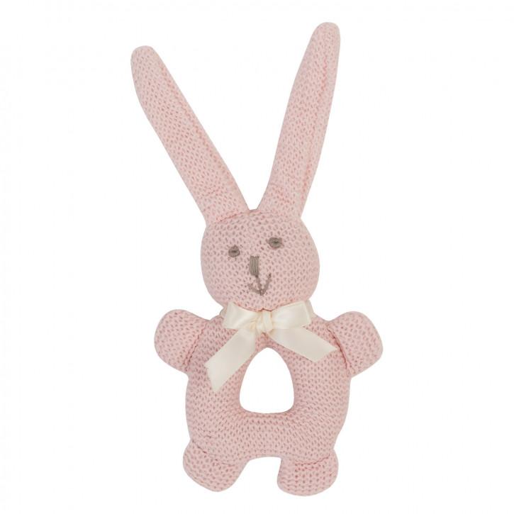 Rassel-Kaninchen mit Schleife, in rosa