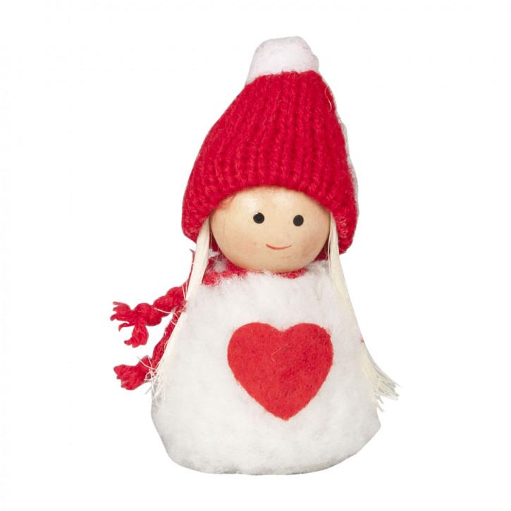Deko Dekoration Puppe Püppchen rot/weiß ca. 4,5 x 5 x 8 cm