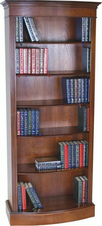 Hohes Bow Front Mahagoni Bücherregal