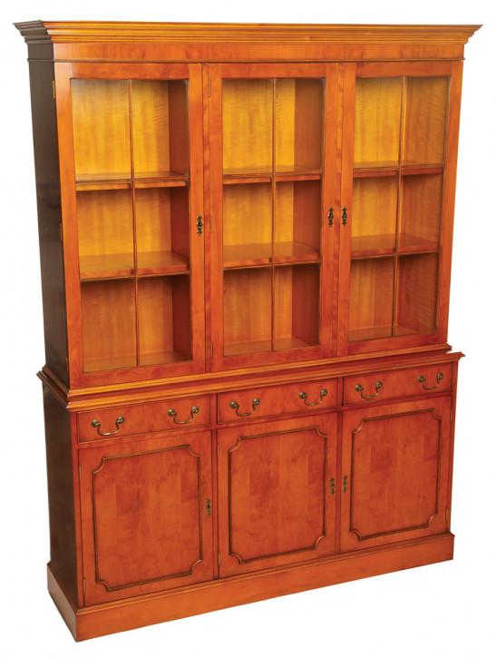 Bevan Funnell 3-Türiger Bücherregal Bücherschrank aus Holz mit Schubladen in Eibe