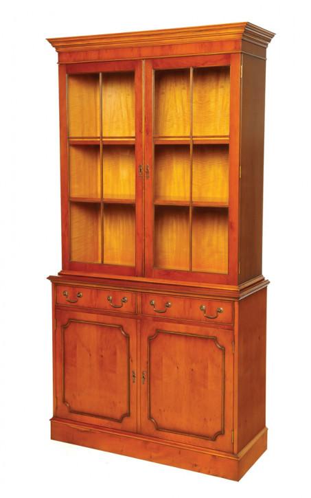 Bevan Funnell 2-Türiger Bücherschrank mit Schubladen in Eibe