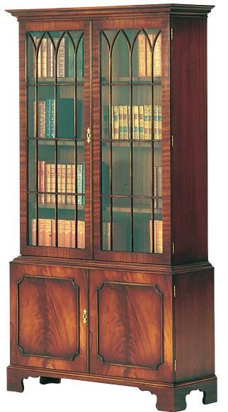 2-Türiger Bücherschrank in Mahagoni