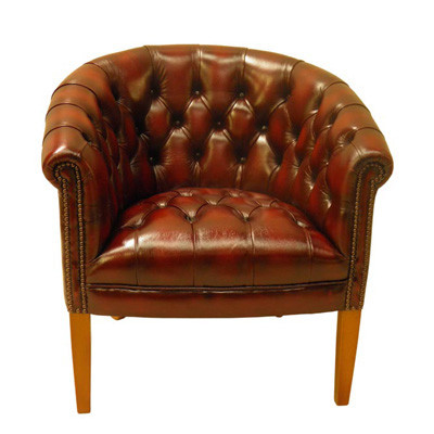 """""""Victorian Club Chair Button Seat"""" Chesterfield Sessel"""