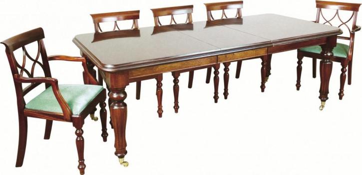 Mahagoni Esstisch mit Einlegeboden