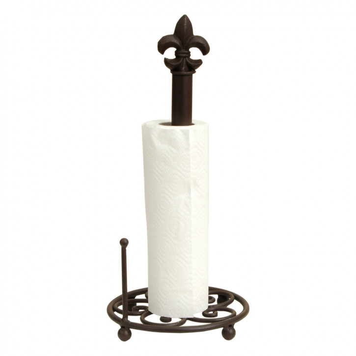 Küchenrollenhalter Lilie aus Gusseisen Ø 18 x 41 cm