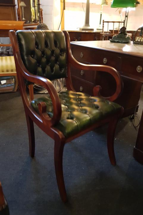 """Canterbury Carver Chair"" in Grün Chesterfield Bürostuhl Sofort Lieferbar"