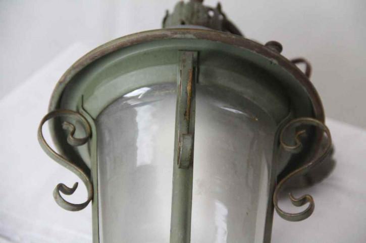Messing Laterne Flurlampe Antik France
