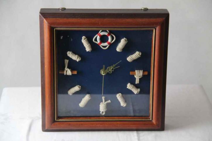 Uhr seglelmotiv Nautik Holz
