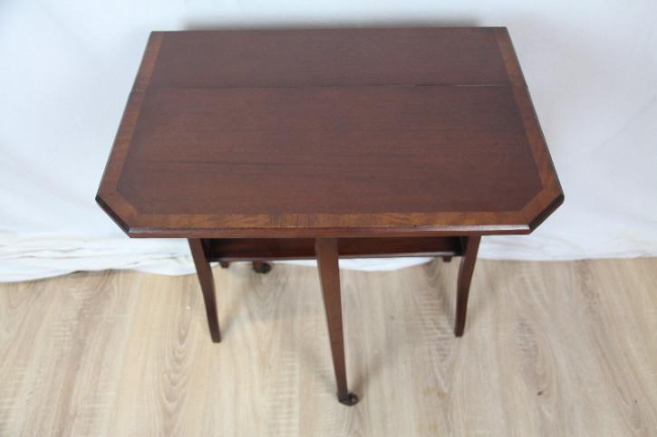 Original englischer Sutherland table aus massivem Mahagoni aus dem Jahr 1890