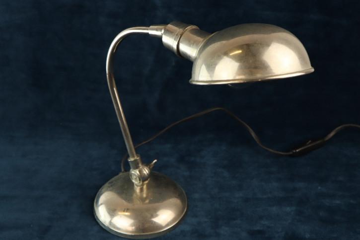 Schreibtischlampe Silber Bauhaus  Art Deco
