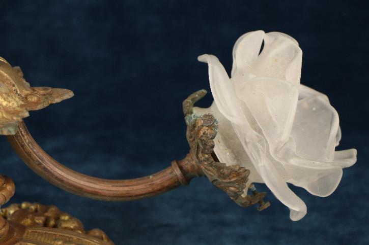 Hängelampe Blumen weiß 3er Fassung