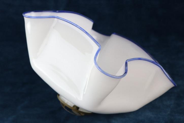 Lampenschirm Glas blauer Rand Halterung