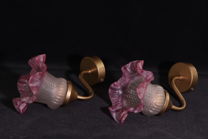 Wandlampe  Paar Frankreich Tulpen